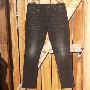 American eagle black athletic fit jeans mens sz 36